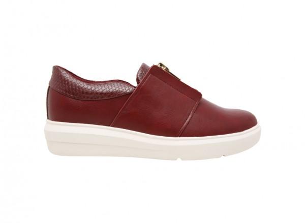حذاء سنيكرز أفاوسي أحمر داكن