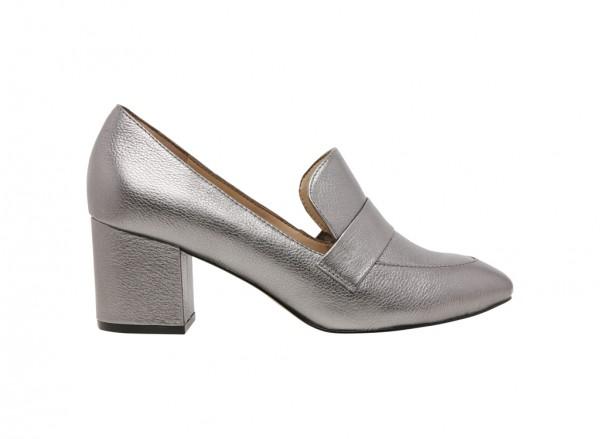 حذاء إيمالين متوسط الكعب رمادي فاتح