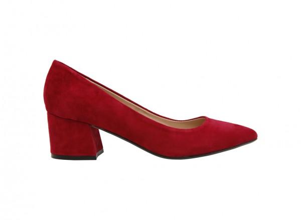 حذاء كوليتو متوسط الكعب أحمر