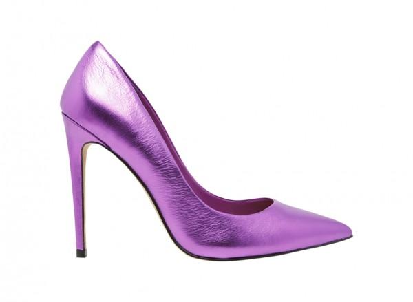 حذاء هانريتّا عالي الكعب بنفسجي