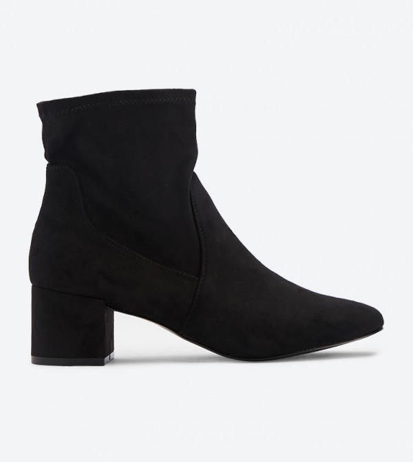Lothelimma Block Heel Boots - Black