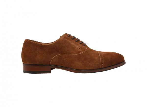 حذاء آليان طويل الرباط بني