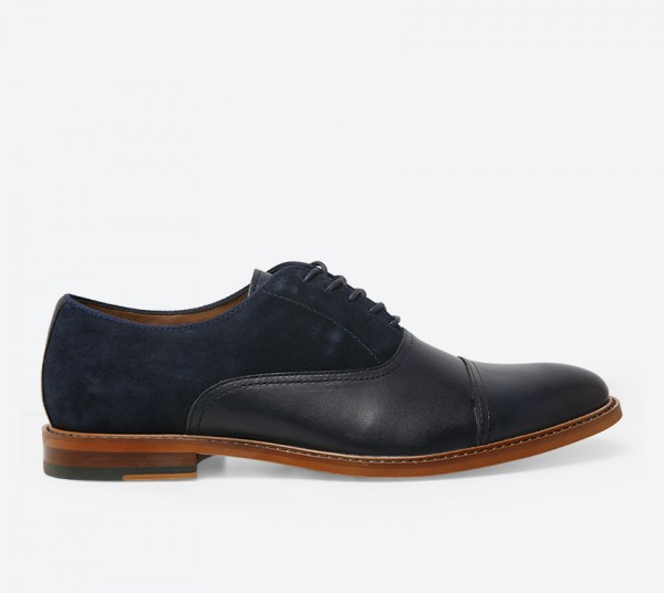 Villers Lace-Up Shoes - Navy
