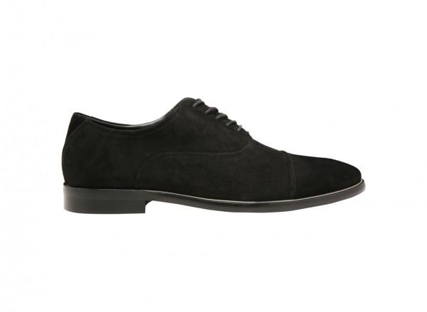 حذاء جافيل طويل الرباط أسود