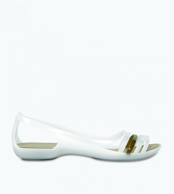 Isabella Sandal - White - CR-202463-11O-OYSTER-WALNUT