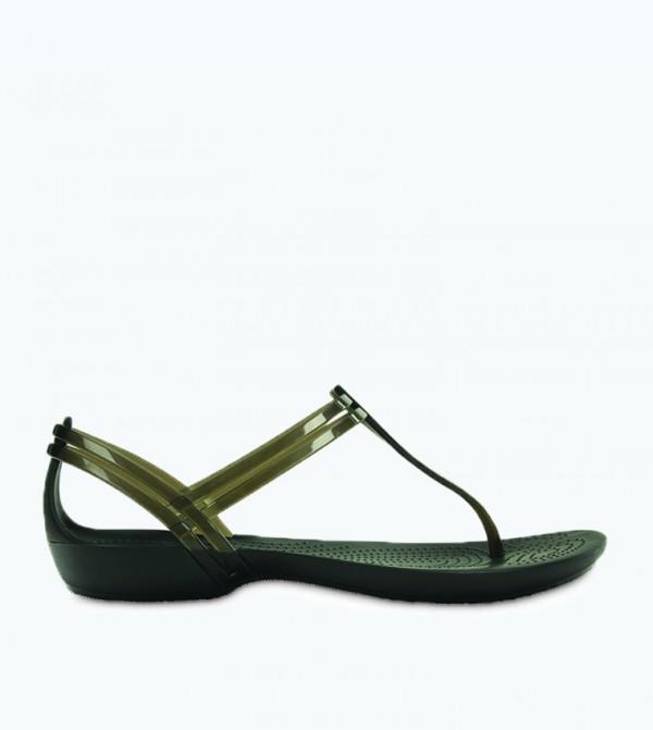 Isabella T-Strap Sandal - Black - CR-202467-001-BLACK