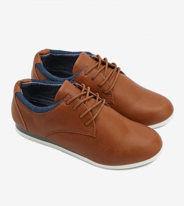 حذاء أوين بلون عسلي