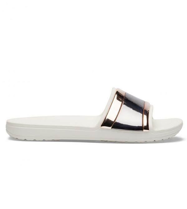 Women's Crocs Sloane MetalBlock Slide