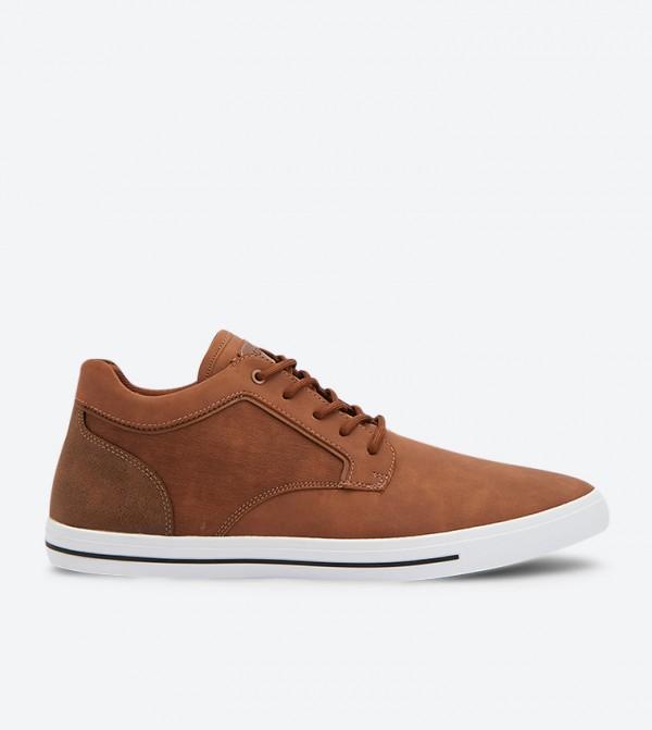 حذاء إيداكين الرياضي بأربطة للإغلاق لون بني