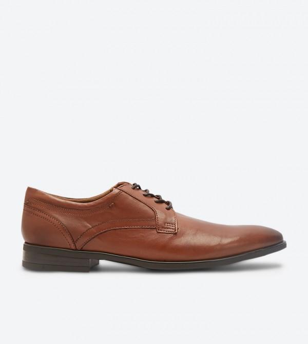 حذاء إيراريفين رسميبأربطة للإغلاق لون بني فاتح