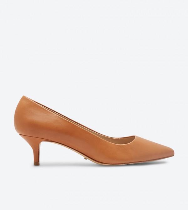 حذاء سيريافليكس بكعب مرتفع لون بني