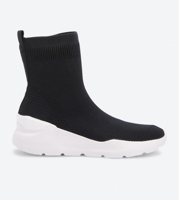 Round Toe Unilmaviel Sock Sneakers - Black