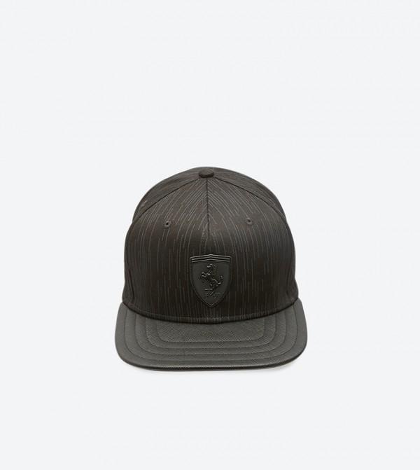 Flatbrim Adjustable Back Strap Cap - Black