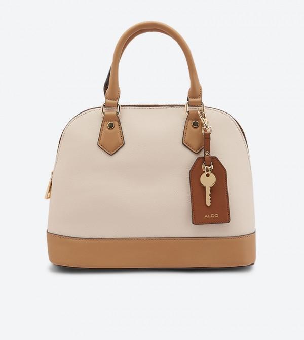 حقيبة يد أفيلي مع مقبض مزدوج لون بيج