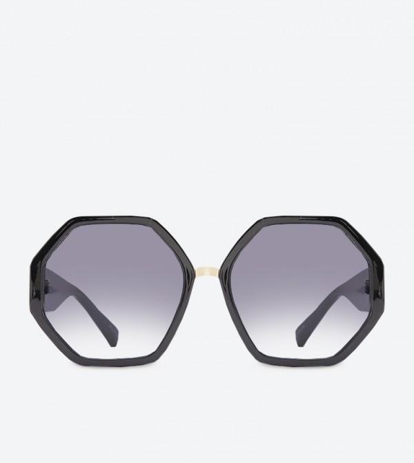 Amorfidith Octagonal Full Rim Sunglasses - Black