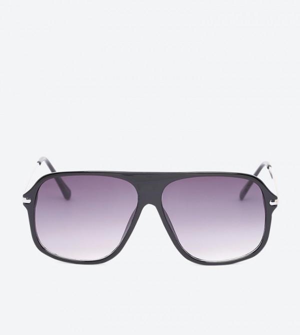 Batawa Square Shape Full Rim Sunglasses - Black