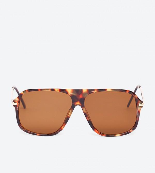 Batawa Square Shape Full Rim Sunglasses - Brown