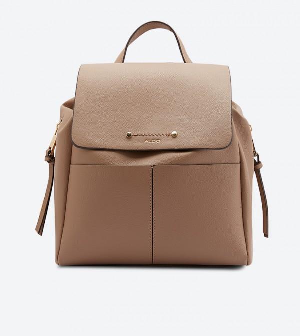 Boewia Double Back Shoulder Strap Backpack - Camel