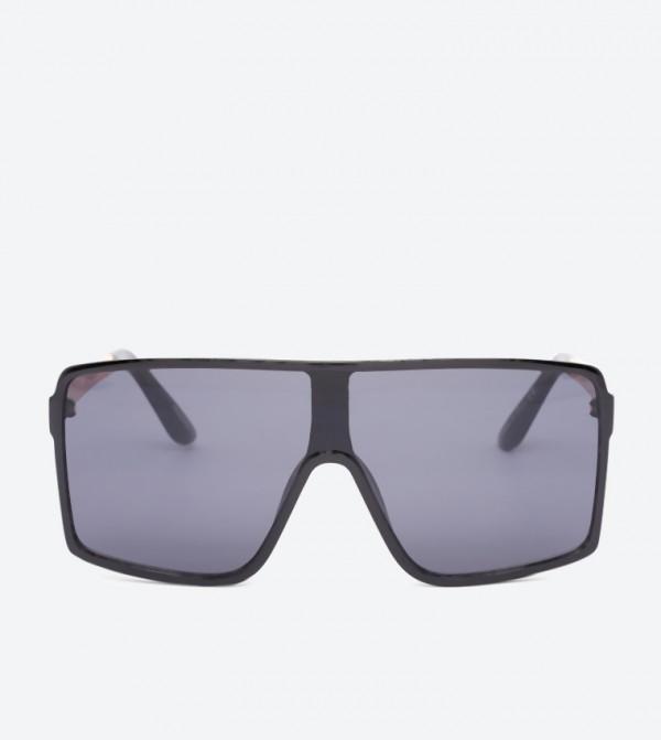 Bowgada Square Frame Oversized Sunglasses - Black