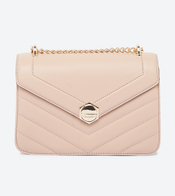 Dalarna Quilted Detailed Trendy Sling Bag - Beige