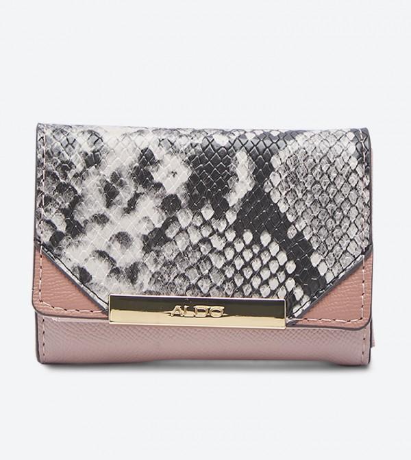 Metal Trim Decade Wallet - Light Pink