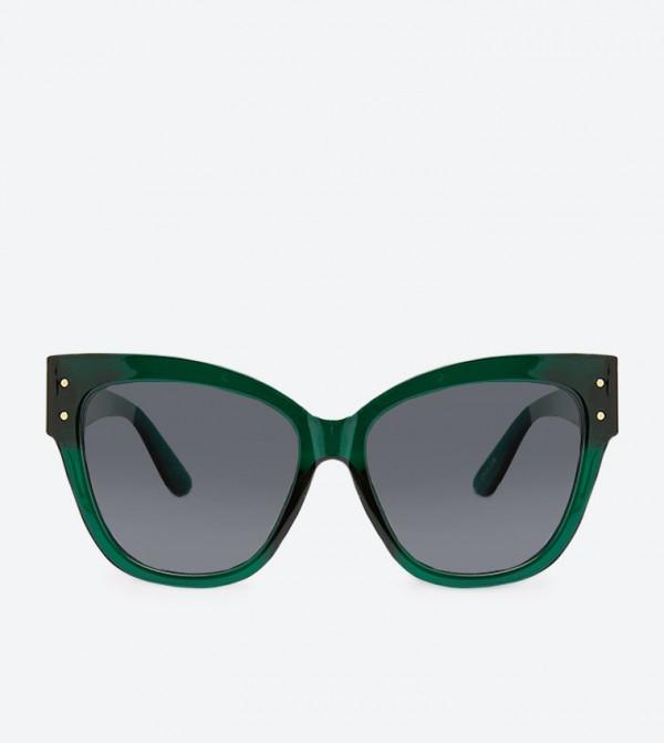 نظارة شمسية Dwealia بشكل عين القطة - اخضر