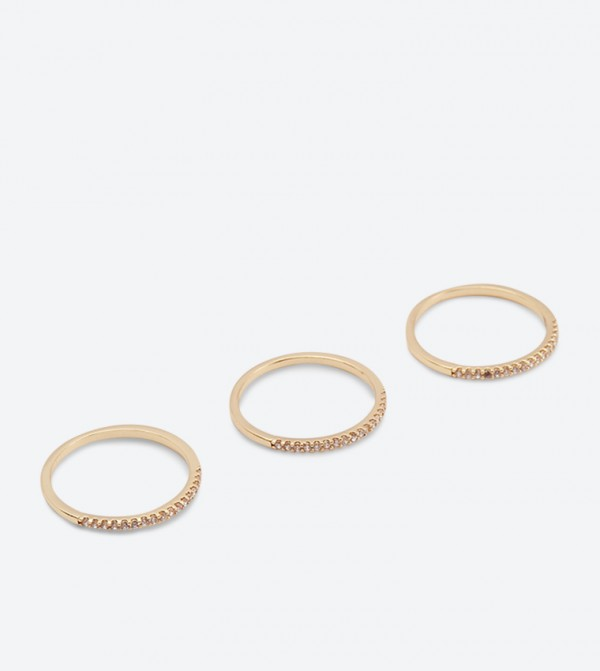 Elmeda Rings Set (3 Pcs) - Gold