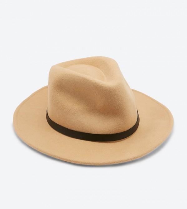 قبعة جلاليكيا بنمط قبعات بنما لون بيج