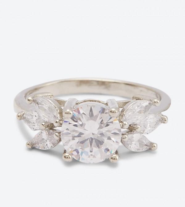 Diamonds Detail Greriria Ring - White