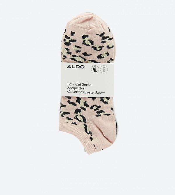 Lothanna Ankle Length Socks Set (5 Pcs) - Light Pink