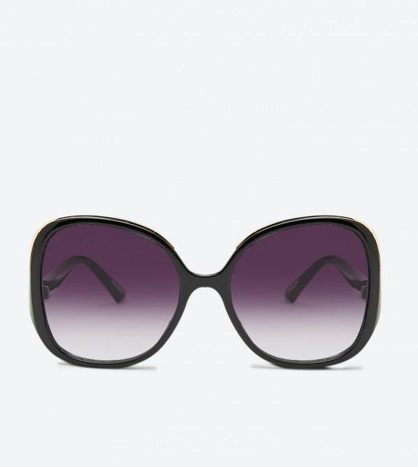Oversized Square Miriliwia Sunglasses - Black