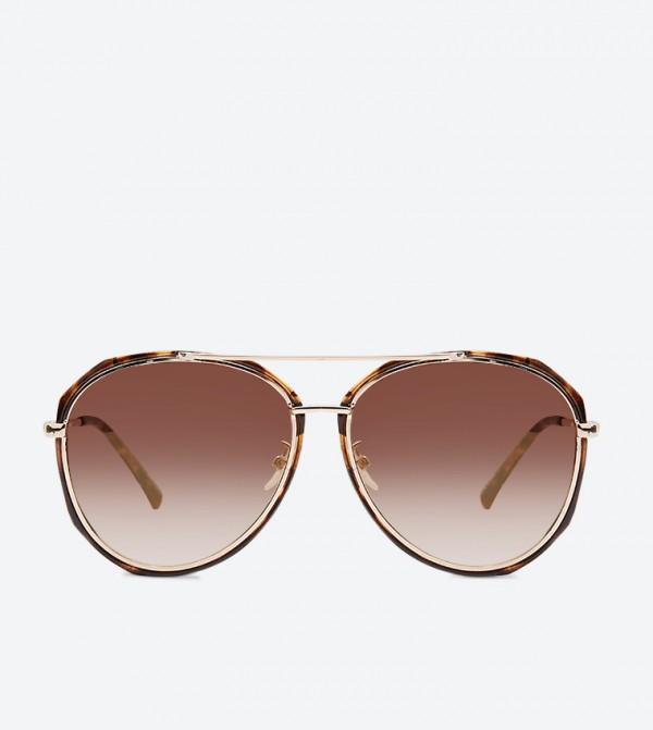 نورفينيا نظارة شمسية مستديرة الشكل لون بني