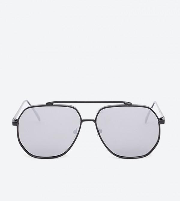 Oneradien Aviator Shape Sunglasses - Black