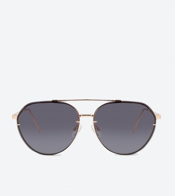 نظارات بيروين شمسية بلون ذهبي