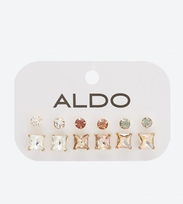 Seawen Stone Detailed Earring Set (6 Pcs) - Multi