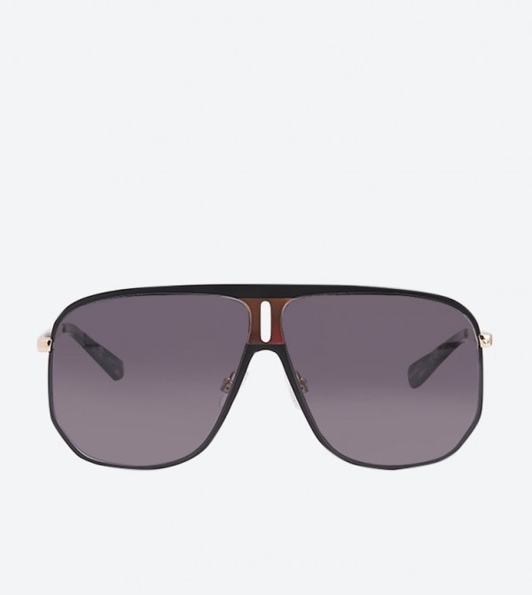 Kaye Shield Frame Stylish Sunglasses - Black