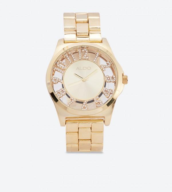 ساعة تايسين بلون ذهبي