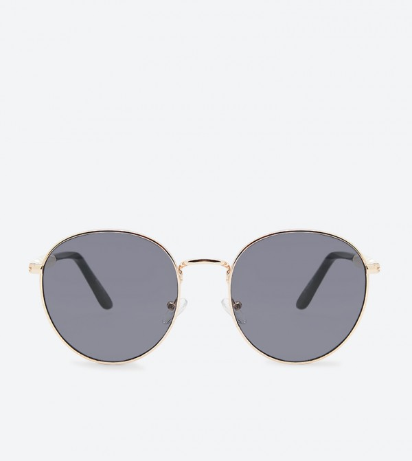 Uleridda Round Frame Stylish Sunglasses - Grey