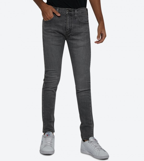 Zip Fly Button Closure 519 Extreme Skinny Fit Jeans - Dark Blue