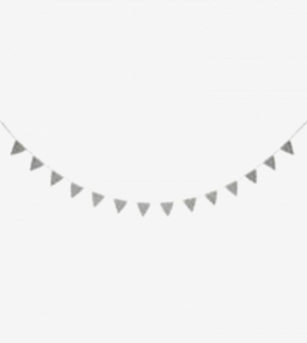 Drawstring Closure Knitted Garland - Silver