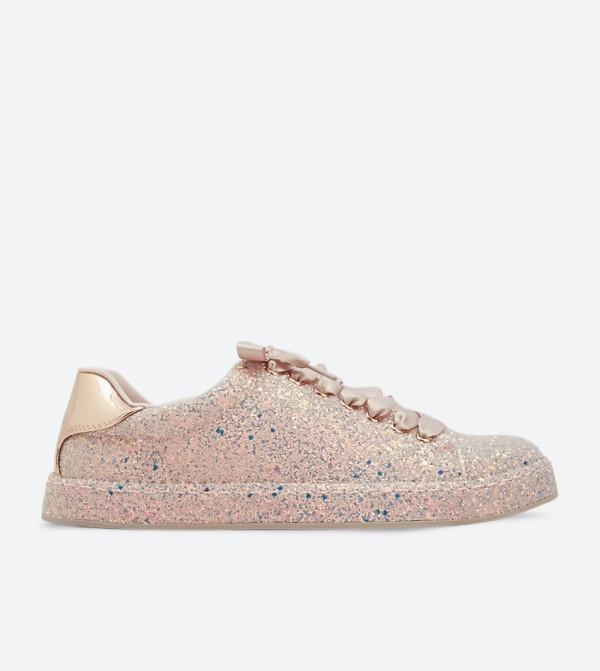Sauwia Glitter Finish Low-Top Sneakers