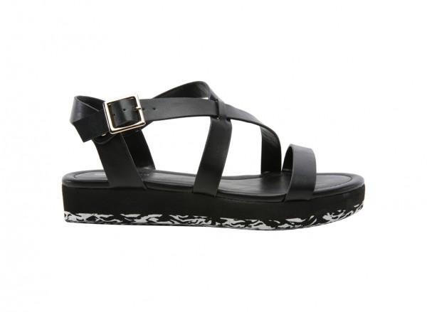 Montanes Black Sandals