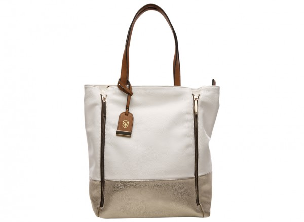 Causey White Tote