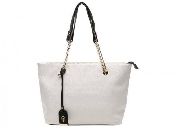 Kamber White Shoulder Bags & Totes