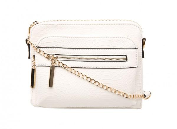 Flaxton White Cross Body Bag