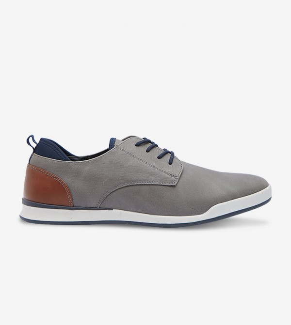 Lace-Up Casuals Shoes - GREY 30FLOYDD