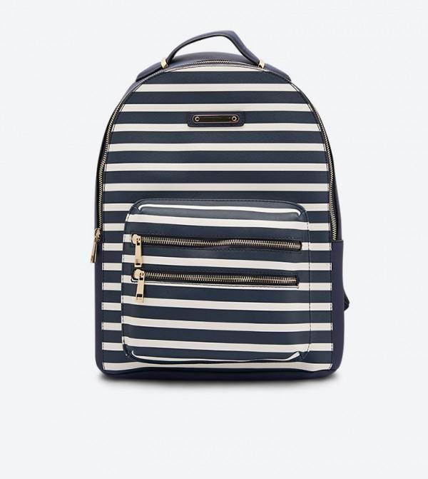حقيبة ظهر فريلانج مخطط لون كحلي