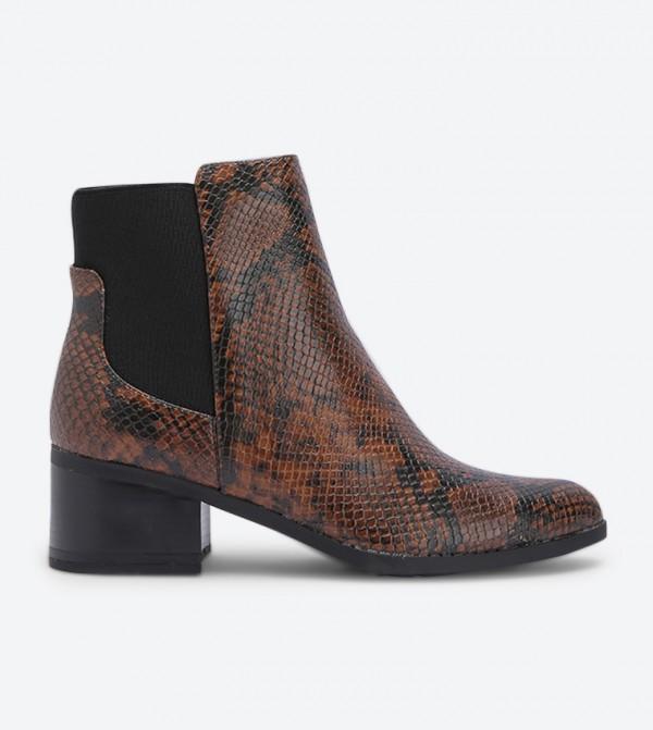 حذاء جريلين بكعب مرتفع لون بني