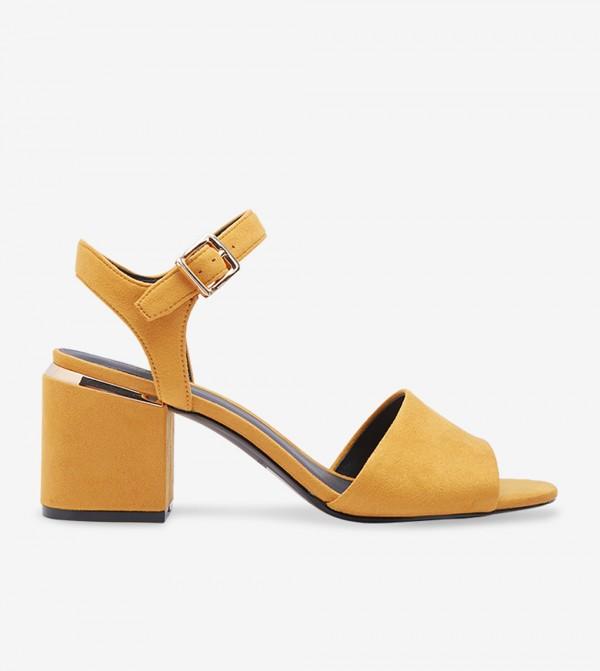 Block Heel Sandals - Yellow 30ISSE