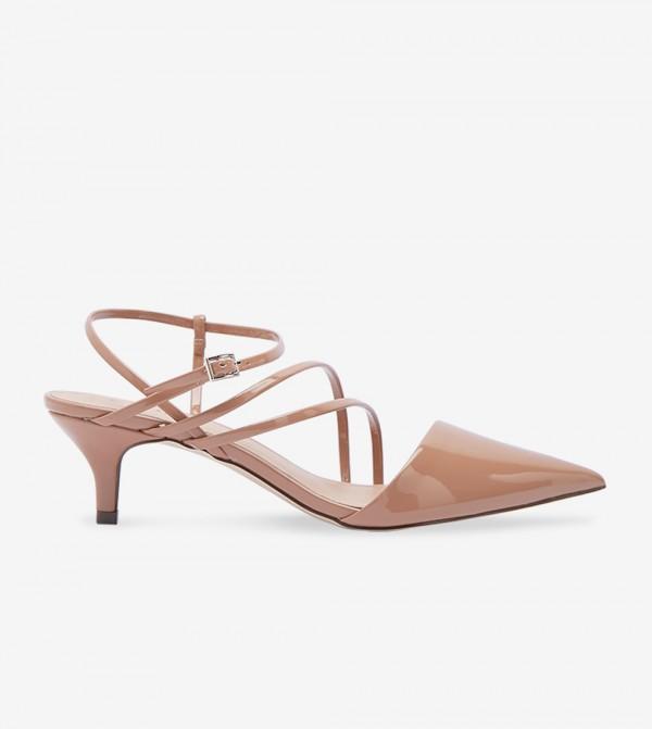 Block Heel Sandals - Brown 30MONAE